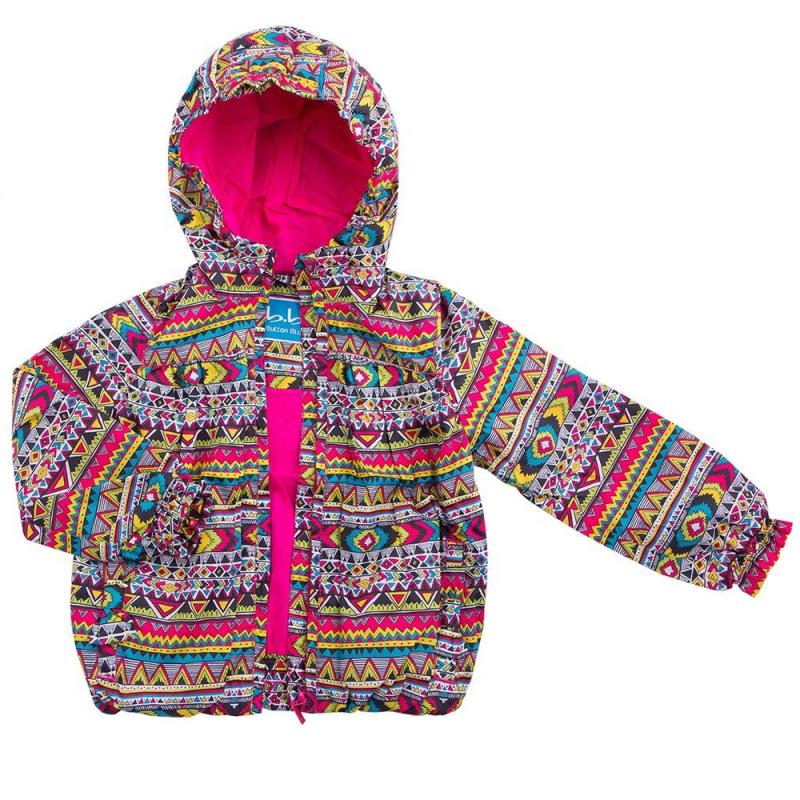 КурткаКуртка желтого цвета марки Button Blue для девочек.<br>Разноцветная куртка декорирована этническим принтом, рюшами и бантиками. Изделие дополнено карманами, капюшоном на резинке и подкладкой розового цвета из чистого хлопка. Куртка с высоким горлом застегивается на сплошную молнию.<br><br>Размер: 3 года<br>Цвет: Желтый<br>Рост: 98<br>Пол: Для девочки<br>Артикул: 636467<br>Страна производитель: Китай<br>Сезон: Весна/Лето<br>Состав: 100% Полиэстер<br>Состав подкладки: 100% Хлопок<br>Бренд: Россия<br>Вид застежки: Молния