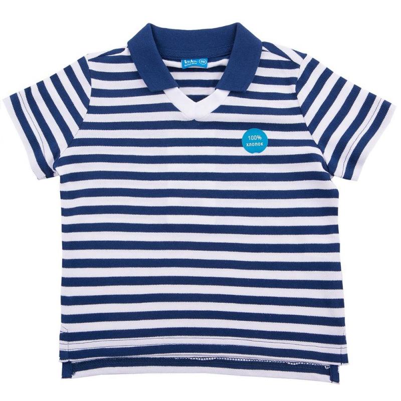 Рубашка-полоРубашка-поло темно-синего цвета марки Button Blue для мальчиков.<br>Поло из чистого хлопка с коротким рукавом и отложным воротником, декорировано белыми полосками, а также надписью и принтом с изображением звезд.<br><br>Размер: 12 лет<br>Цвет: Темносиний<br>Рост: 152<br>Пол: Для мальчика<br>Артикул: 633809<br>Страна производитель: Китай<br>Сезон: Весна/Лето<br>Состав: 100% Хлопок<br>Бренд: Россия