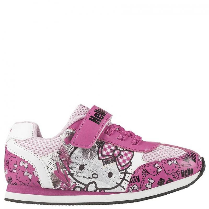КроссовкиКроссовки розового цвета марки Kakadu для девочек. Модель украшена изображением Hello Kitty, которую обожают девочки. Основной цвет - розовый, декорирована обувь элементами других оттенков. Подошва - толстая, устойчивая.Подкладка сделана из хлопка, который позволяет ножке ребенка дышать и чувствовать себя комфортно при ходьбе.<br><br>Размер: 35<br>Цвет: Розовый<br>Пол: Для девочки<br>Артикул: 644477<br>Страна производитель: Китай<br>Сезон: Весна/Лето<br>Материал верха: Текстиль / Иск. кожа<br>Материал подкладки: Текстиль<br>Материал подошвы: ЭВА (каучук) / ТПР (термопластичная резина)<br>Лицензия: Hello Kitty