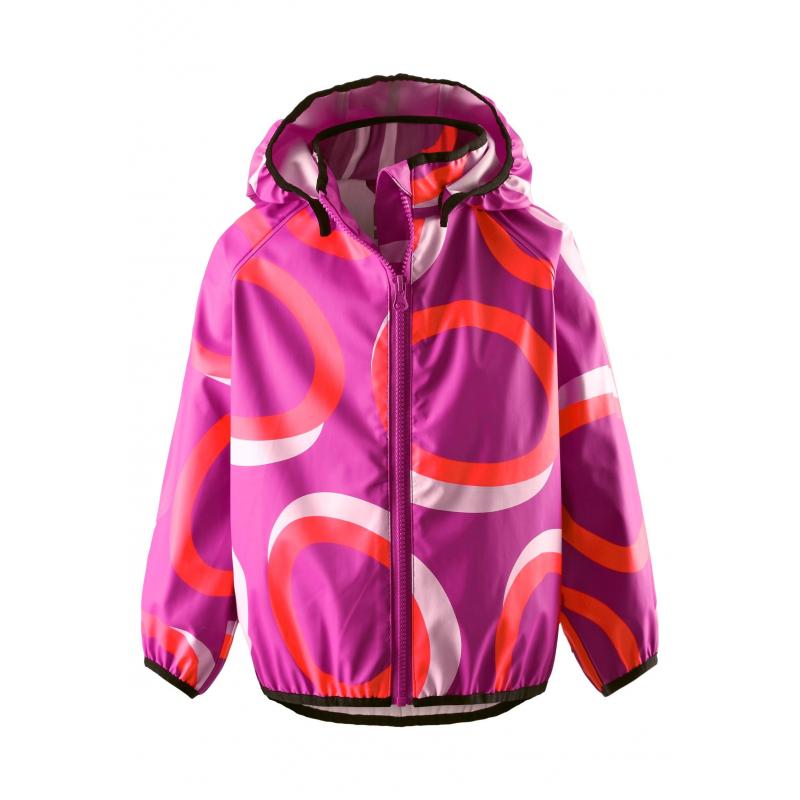 Куртка-дождевикКуртка-дождевик малиновогоцвета марки Reima длядевочек.<br>Яркая курточкавыполнена из водонепроницаемого материала с грязеотталкивающими свойствами. Модель, застегивающаяся на молнию, дополнена безопасным съемным капюшоном на кнопках. Манжеты на резинкахобеспечивают плотное прилегание и защищают от ветра. Светоотражающие детали на куртке обеспечивают безопасность в темное время суток.<br><br>Размер: 18 месяцев<br>Цвет: Малиновый<br>Рост: 86<br>Пол: Для девочки<br>Артикул: 645515<br>Страна производитель: Китай<br>Сезон: Весна/Лето<br>Состав: 100% Полиэстер<br>Бренд: Финляндия<br>Вид застежки: Молния<br>Покрытие: Полиуретан<br>Тип: Лето<br>Серия: Reima