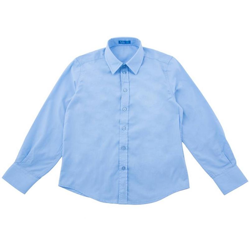 СорочкаСорочка голубого цветамаркиButton Blue для мальчиков.<br>Однотонная сорочка с длинным рукавом и приталенного кроя выполнена из приятной на ощупь ткани.<br><br>Размер: 8 лет<br>Цвет: Голубой<br>Рост: 128<br>Пол: Для мальчика<br>Артикул: 636742<br>Страна производитель: Китай<br>Сезон: Весна/Лето<br>Состав: 50% Хлопок, 50% Полиэстер<br>Бренд: Россия<br>Вид застежки: Пуговицы