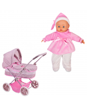 Классическая коляска с куклой Boutique 36 см Bambolina