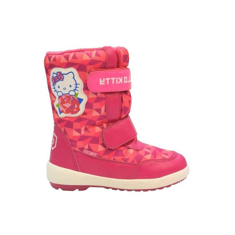 СапогиСапожки малинового цвета марки Kakadu для девочек.Удачный дизайн с изображением Hello Kitty обязательно понравится девочке дошкольного возраста.Главные преимущества сапожек: устойчивая толстая подошва, надежные застежки и технология KING TEX, которая гарантирует защиту от мороза до минус 30 градусов и выведение влаги из обуви. Застегиваются сапожки на удобные липучки.<br><br>Размер: 28<br>Цвет: Малиновый<br>Пол: Для девочки<br>Артикул: 644636<br>Страна производитель: Китай<br>Сезон: Осень/Зима<br>Материал верха: Текстиль / Иск. кожа<br>Материал подкладки: Шерсть<br>Материал подошвы: ТПР (термопластичная резина)<br>Лицензия: Hello Kitty