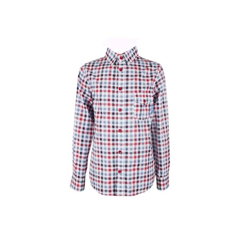 РубашкаРубашка красного цвета марки Button Blueдля мальчиков.<br>Рубашка с длинным рукавом из стопроцентного хлопка декорирована клеткой синего и белого цвета. Изделие дополнено кармашком и отложным воротничком.<br><br>Размер: 3 года<br>Цвет: Красный<br>Рост: 98<br>Пол: Для мальчика<br>Артикул: 633545<br>Страна производитель: Бангладеш<br>Сезон: Весна/Лето<br>Состав: 100% Хлопок<br>Бренд: Россия<br>Вид застежки: Пуговицы
