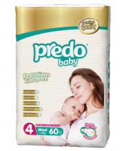 Подгузники Гигантская пачка 7-18 кг 60 шт Predo Baby