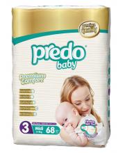 Подгузники Гигантская пачка 4-9 кг 68 шт Predo Baby