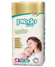 Подгузники Двойная пачка 7-18 кг 36 шт Predo Baby