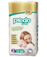 Подгузники Двойная пачка 4-9 кг 40 шт Predo Baby