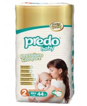 Подгузники Двойная пачка 3-6 кг 44 шт Predo Baby