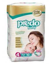 Подгузники Стандартная пачка 7-18 кг 10 шт Predo Baby