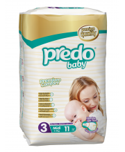 Подгузники Стандартная пачка 4-9 кг 11 шт Predo Baby