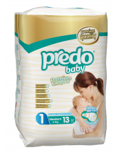 Подгузники Стандартная пачка 2-5 кг 13 шт Predo Baby