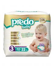 Подгузники Экономичная пачка 4-9 кг 22 шт Predo Baby