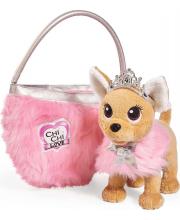 Плюшевая собачка Chi-Chi love Принцесса с пушистой сумкой 20 см
