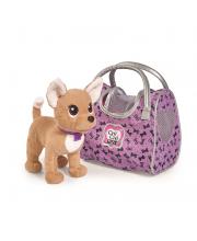 Плюшевая собачка Chi-Chi love Путешественница с сумкой-переноской 20 см