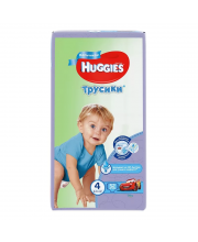 Подгузники-трусики 4 9-14 кг 52 шт Huggies