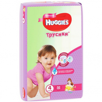 Гигиена, Трусики 4 9-14 кг 52 шт Huggies 378139, фото