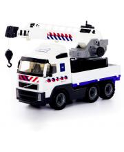 Автомобиль-кран с поворотной платформой полицейский Volvo Полесье
