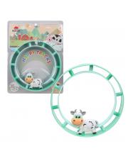 Бегущее колесо заводное Буренка Наша Игрушка