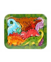 Зоопазл Динозавры 9 деталей Нескучные игры
