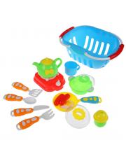 Игровой набор Посуда в корзинке Наша Игрушка