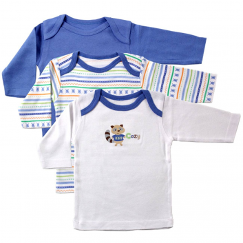 Последний размер, Комплект футболок LUVABLE FRIENDS (синий)604966, фото