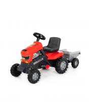 Каталка-трактор с педалями Turbo с полуприцепом Полесье