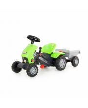 Каталка-трактор с педалями Turbo-2 с полуприцепом Полесье