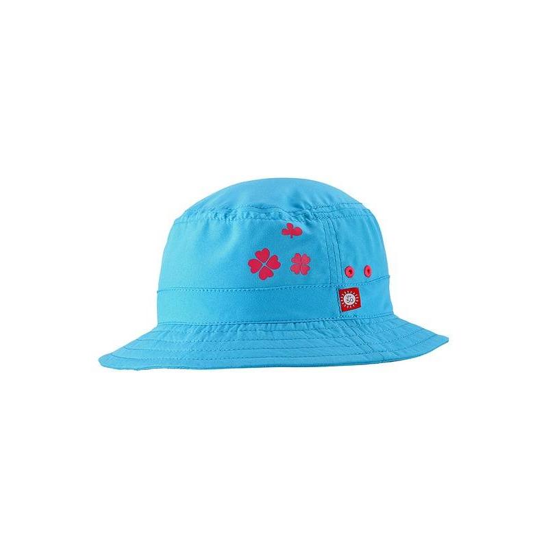 ПанамаПанама голубого цвета марки REIMA для девочек.<br>Летняя панама для плавания выполнена из дышащего материала и украшена принтом с изображениями четырехлистного клевера. Защитный быстросохнущий материал с УФ-фильтром 50+ позволит наслаждаться летним отдыхом без волнений.<br><br>Цвет: Голубой<br>Размер шапки: 50<br>Пол: Для девочки<br>Артикул: 645679<br>Бренд: Финляндия<br>Страна производитель: Китай<br>Сезон: Весна/Лето<br>Состав: 100% Полиэстер<br>Тип: Лето<br>Серия: Reima<br>Размер: Без размера