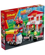 Конструктор Fireman Пожарная часть 164 элемента Бауер