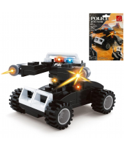 Конструктор серии Полиция Машина 62 детали Ausini