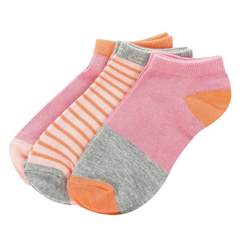 Комплект носков 3 парыКомплект носков 3 пары кораллового цвета марки INCITYдля девочек.<br>Набор состоит из хлопковых носочков в кораллово-серых тонах. В составе присутствует эластан, благодаря этому носочки износостойкие и удобные. Такие носки подойдут на каждый день, а также для спортивных занятий.<br><br>Размер: 9 лет<br>Цвет: Коралловый<br>Пол: Для девочки<br>Артикул: 644973<br>Бренд: Россия<br>Страна производитель: Китай<br>Сезон: Всесезонный<br>Состав: 75% Хлопок, 22% Полиэстер, 3% Эластан
