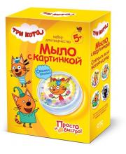 Мыло Три кота с картинкой Карамелька Фантазёр