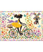 Набор для изготовления картины Ма Шер Девушка на велосипеде Клевер Медиа Групп
