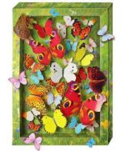 Набор для творчества Объемная картинка Взлетающие бабочки Клевер Медиа Групп