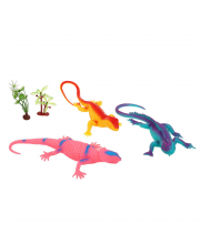 Набор животных Ящерицы из мягкой резины 3 шт Наша Игрушка