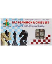 Настольная игра 2в1 шахматы и шашки Наша Игрушка