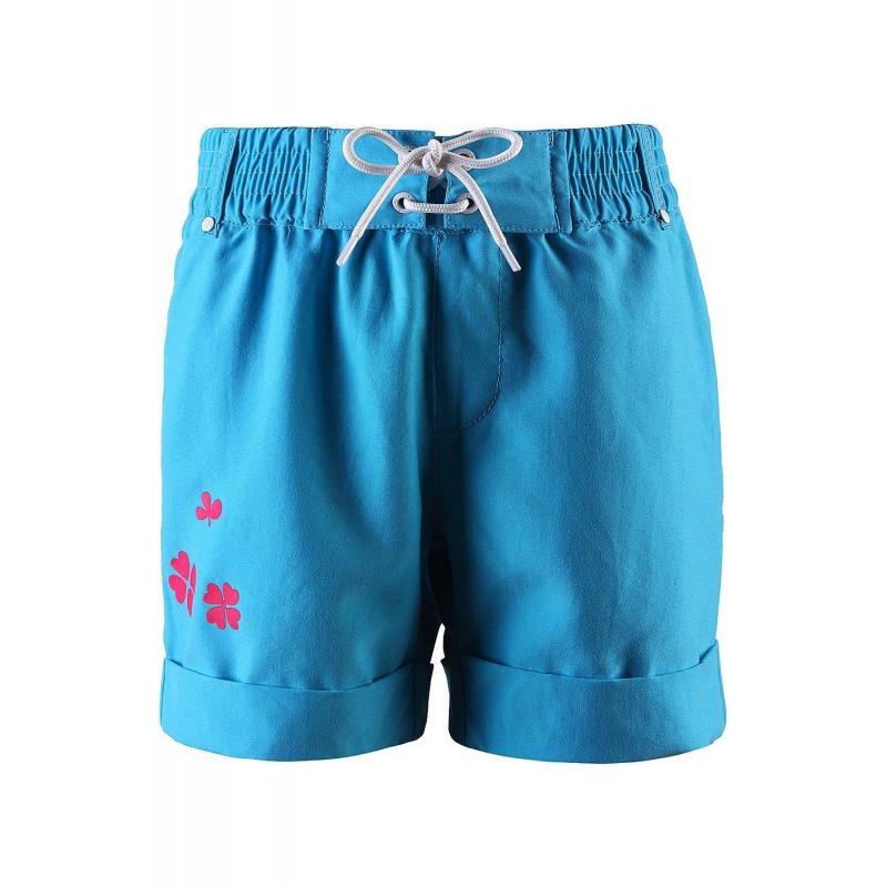 ШортыШорты голубого цвета марки Reima для девочек.<br>Яркие пляжные шорты из мягкого материала декорированы принтом с изображением четырехлистного клевера. Модель дополнена отворотами и передними карманами. Шорты с широкой резинкой на поясе дополнительно застегиваются на завязки. Светоотражающие детали обеспечивают безопасность в темное время суток.<br><br>Размер: 10 лет<br>Цвет: Голубой<br>Рост: 140<br>Пол: Для девочки<br>Артикул: 645690<br>Страна производитель: Китай<br>Сезон: Весна/Лето<br>Состав: 100% Полиэстер<br>Бренд: Финляндия<br>Тип: Лето<br>Серия: Reima