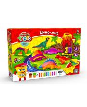 Тесто для лепки MASTER DO Дино-мир 10 цветов Данко-Тойс
