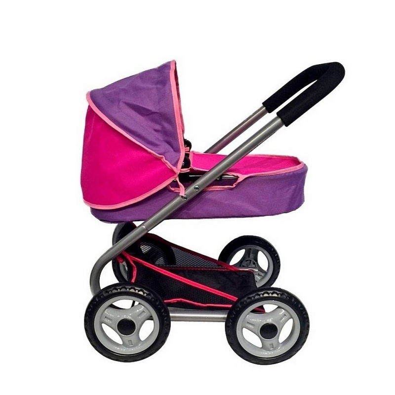 Кукольная коляскаКукольная коляска фиолетового цвета марки RT для девочек.<br>Закрытая облегченная прогулочная коляска для кукол дополнена мягкой ручкой, складным капюшоном и багажником-сеткой. Колеса прорезинены, поэтому коляска не гремит во время движения. Облегченная модель, выполненная в ярком цвете, прекрасно подойдет для игры в дочки-матери.<br>Длина люльки: 46 см;<br>Высота ручки: 57 см;<br>Размер игрушки: 67х44х56 см;<br>Вес игрушки: 2,42 кг;<br>Размер упаковки: 30х50х8 см<br><br>Цвет: Фиолетовый<br>Возраст от: 3 года<br>Пол: Для девочки<br>Артикул: 650014<br>Страна производитель: Китай<br>Бренд: Россия<br>Размер: от 3 лет