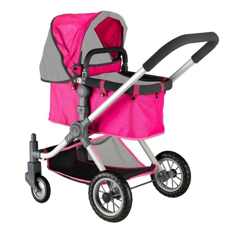 Кукольная коляскаКукольная коляска серого цвета марки RT для девочек.<br>Стильная закрытая коляска-трансформер для кукол выполнена в дизайне, разработанном в Испании. Инновационная модель имеет перекидную ручку с возможностью передвижения вперед и назад, а также съемную люльку, вместо которой можно поставить прогулочный блок (входит в комплект).<br>Уникальная коляска с вращающимися на 360 градусов колесами, которые делают коляску маневренной, проходимой и устойчивой, что позволяет малышкам легко управлять игрушкой на дороге. Для бесшумности колеса дополнительно прорезинены сверху. Ручка и каркас имеют мягкий ободок. Коляска дополнена большим складным капюшоном и нижней сеткой для перевозки вещей. Глубокая и просторная люлька, в которой может поместиться даже самая большая кукла.<br>Благодаря такой игрушке малышки с удовольствием будут играть в дочки-матери, катая своих любимых куколок.<br>Длина люльки: 53 см;<br>Максимальная высота от пола до ручки: 75 см;<br>Высота до капюшона: 80 см;<br>Размер игрушки: 46х85х59 см<br>Вес игрушки: 4,25 кг;<br>Размер упаковки: 39х56х15 см.<br><br>Цвет: Серый<br>Возраст от: 3 года<br>Пол: Для девочки<br>Артикул: 650019<br>Страна производитель: Китай<br>Бренд: Россия<br>Размер: от 3 лет