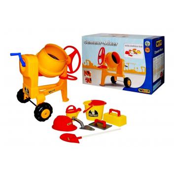 Игрушки, Бетономешалка+Набор каменщика Wader 650107, фото