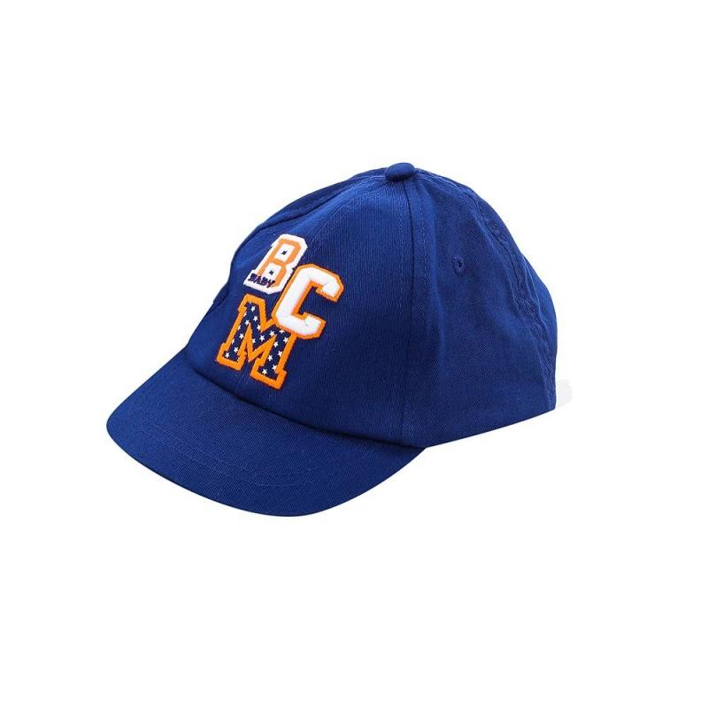 БейсболкаБейсболкасинегоцвета марки Mayoral для мальчиков.<br>Однотонная бейсболка выполнена из чистогохлопка и декорирована яркой вышивкой, а также на затылке модель дополнена небольшой резинкой.<br><br>Цвет: Синий<br>Размер шапки: 46<br>Пол: Для мальчика<br>Артикул: 645389<br>Бренд: Испания<br>Страна производитель: Китай<br>Сезон: Весна/Лето<br>Состав: 100% Хлопок<br>Размер: Без размера