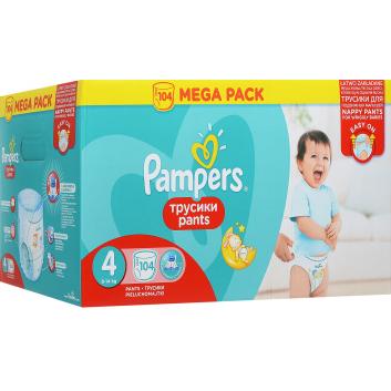 Гигиена, Подгузники-трусики Pants Maxi 8-14 кг 104 шт Pampers 916534, фото