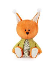 Мягкая игрушка Белка Бика в платье и курточке 15 см BUDI BASA