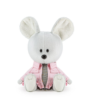 Мягкая игрушка Мышка Пшоня в платье и курточке 15 см BUDI BASA