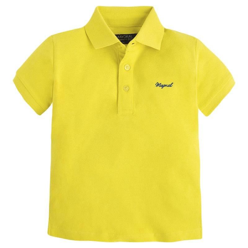 Рубашка-полоРубашка-поло желтогоцвета марки Mayoral для мальчиков.<br>Однотонное поло с коротким рукавом яркого цвета выполнено из ткани пике, декорировано вышивкойлоготипа бренда темно-синего цвета.<br><br>Размер: 9 лет<br>Цвет: Желтый<br>Рост: 134<br>Пол: Для мальчика<br>Артикул: 646083<br>Страна производитель: Бангладеш<br>Сезон: Весна/Лето<br>Состав: 100% Хлопок<br>Бренд: Испания<br>Вид застежки: Пуговицы