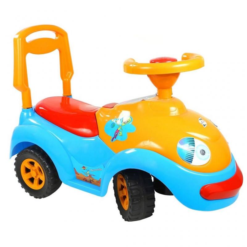 Каталка ЛуноходКаталка Луноходголубогоцвета марки RT.<br>Яркаякаталка выполнена из прочного пластика и оснащена комфортным сиденьем, спинкой, широкими колесами, а также музыкальным рулем. А для любимых игрушек предусмотрен небольшойбагажник. Модель понравится любому ребенку, и он весело проведет время как на улице, так и дома.<br>Размеризделия: 62х45х32 см.<br>Размер упаковки: 62х45х32 см.<br>Вес изделия: 2,8 кг.<br><br>Возраст от: 10 месяцев<br>Пол: Не указан<br>Артикул: 650159<br>Страна производитель: Китай<br>Бренд: Россия<br>Размер: от 10 месяцев