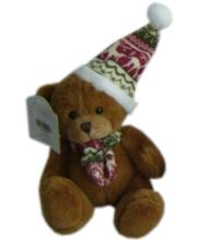 Медведь в шапке и шарфике 15 см в ассортименте SONATA style