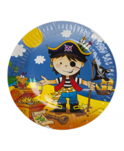 Набор тарелок Маленький пират 17 см 6 шт Веселая Затея